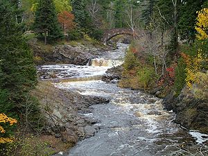 Lester River - The Lester River in Duluth
