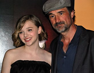 Let Me In (film) - Chloë Grace Moretz and Elias Koteas during the New York premiere of Let Me In at the SVA Theater on September 30, 2010.