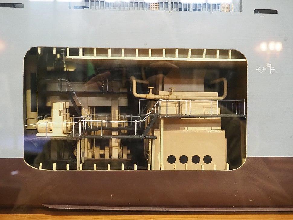 Liberty Ship Model (engine room detail)