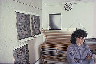 Linda Lindroth - Linda Lindroth in her Studio in 1985. Photo is by Craig D. Newick