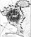 Livorno map of the town (1764) by Le petit Atlas Maritime 01.jpg