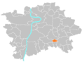 Location map municipal district Prague - Petrovice.PNG