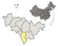 Location of Tonghua Prefecture within Jilin (China).png
