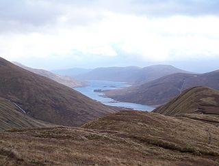 Loch Cluanie reservoir in the United Kingdom