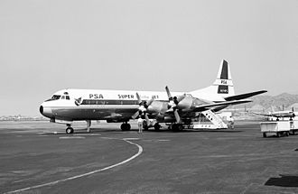 Hollywood Burbank Airport - Pacific Southwest Lockheed L-188 Electra, 1962