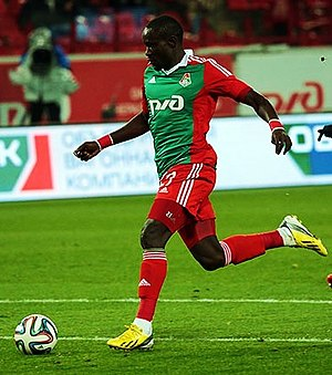Oumar Niasse - Niasse in action for Lokomotiv against Terek Grozny in October 2014