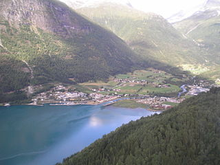 Loen Village in Western Norway, Norway