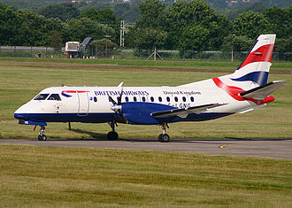 Loganair - Loganair Saab 340B in its former British Airways livery