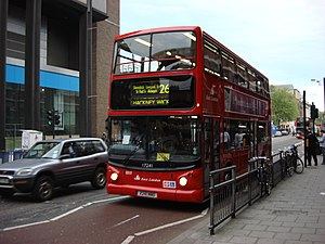 London Buses route 26 - East London Alexander ALX400 bodied Dennis Trident 2 in April 2007