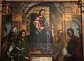 Lorenzo costa, Madonna in trono e santi, 1497, 03.JPG