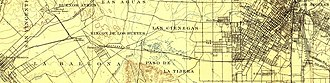 Los Angeles and Independence Railroad - Route in 1894