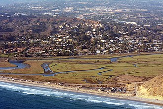 Los Peñasquitos Lagoon - Aerial Photo of the Los Peñasquitos Lagoon July 2014