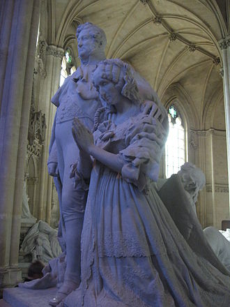 Chapelle royale de Dreux - Monument to King Louis-Philippe (1773–1850) and his wife Maria Amalia (1782-1866)