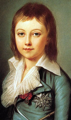 Louis XVII of France - Portrait aged 7 by Alexander Kucharsky, 1792