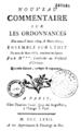 Louis XIV, Daniel Jousse - Nouveau commentaire, ordonnance 1669, 1673, édit touchant les épices, 1772.png