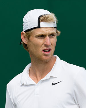 Luke Saville - Saville at the 2015 Wimbledon<br/>qualifying tournament