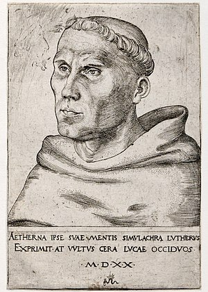 Eisleben - Martin Luther as a monk in 1520