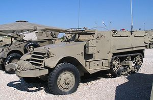 M5 Half-track - An M5 Half-track at the Yad La-Shiryon Museum in Israel