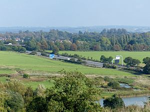 M32 motorway - The M32 has been criticized for passing close to Stoke Park and part of the estate grounds were given up for the motorway.