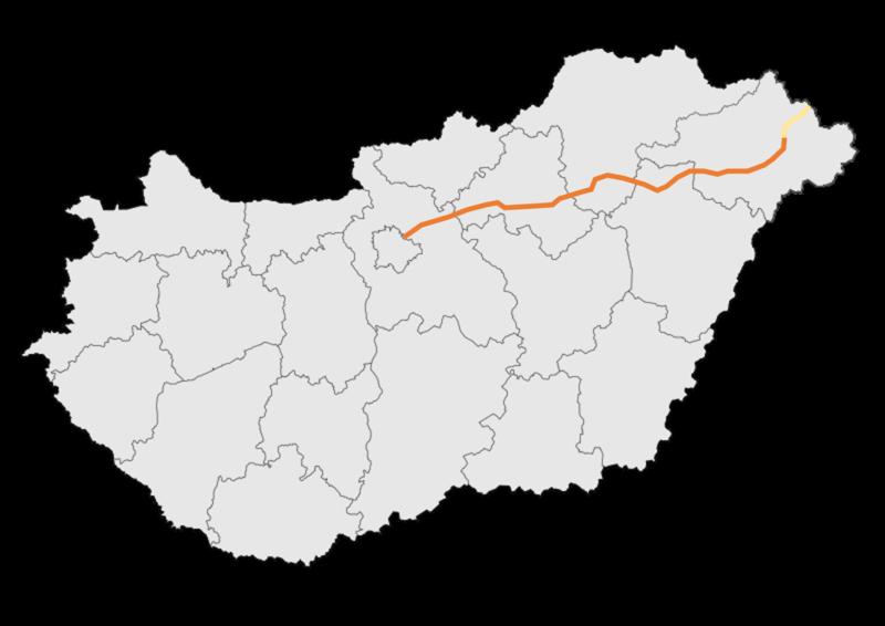magyarország autópálya térkép 2013 File:M3 autópálya   térkép.png   Wikimedia Commons magyarország autópálya térkép 2013