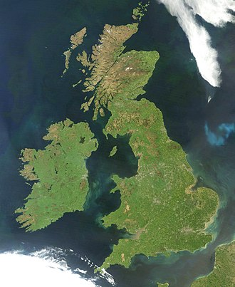 British Isles - Satellite image, excluding Shetland and the Channel Islands (out of frame)