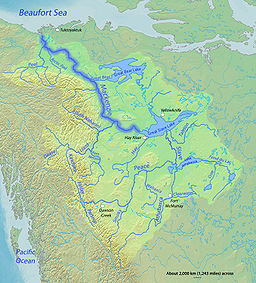 Map of the Mackenzie River watershed
