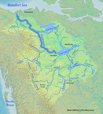 Canadian canoe routes - Mackenzie Basin. Lac La Loche is south of the 'w' in 'Clearwater'. The best beaver country was to the south and along the Rockies.