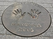 Madonna's handprints in concrete