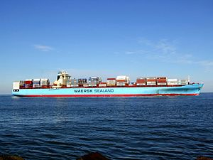 Maersk Kolkata p06 approaching Port of Rotterdam, Holland 21-Feb-2005.jpg