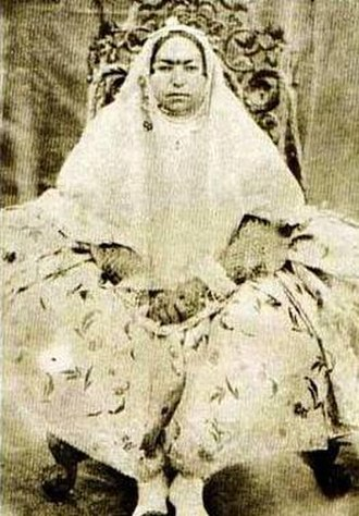 Women in Iran - Malek Jahan Khanom, Mahd-e Olia, regent of Imperial Iran in 1848