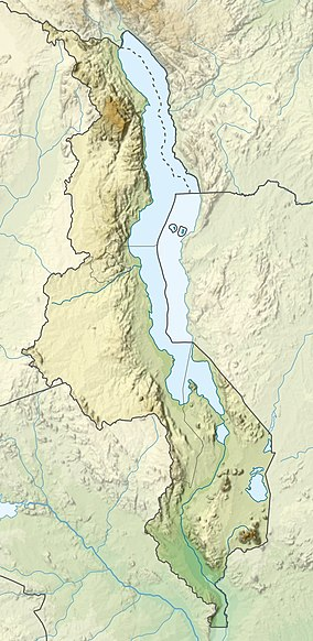 Map showing the location of Liwonde National Park