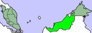 Malaysia Sarawak map.