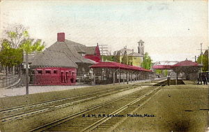 Haverhill Line - Malden's Pearl Street station, used until 1975