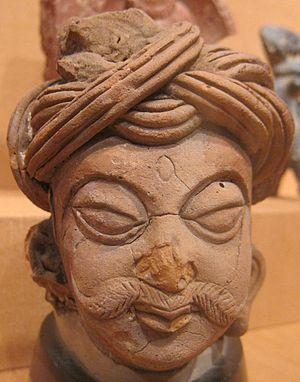Bhanugupta - Male head, northern India, 5th-6th century CE.