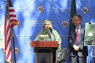 Malouma - Malouma Meidah receiving the 2015 Mauritanian Woman of Courage award
