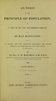Malthus - Essay on the principle of population, 1826 - 5884843.tif