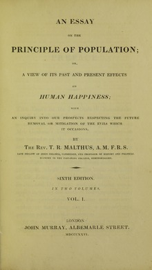 malthuss essay led darwin to