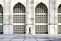 Man searching for a prayer place at Baitul Mukarram National Mosque.jpg