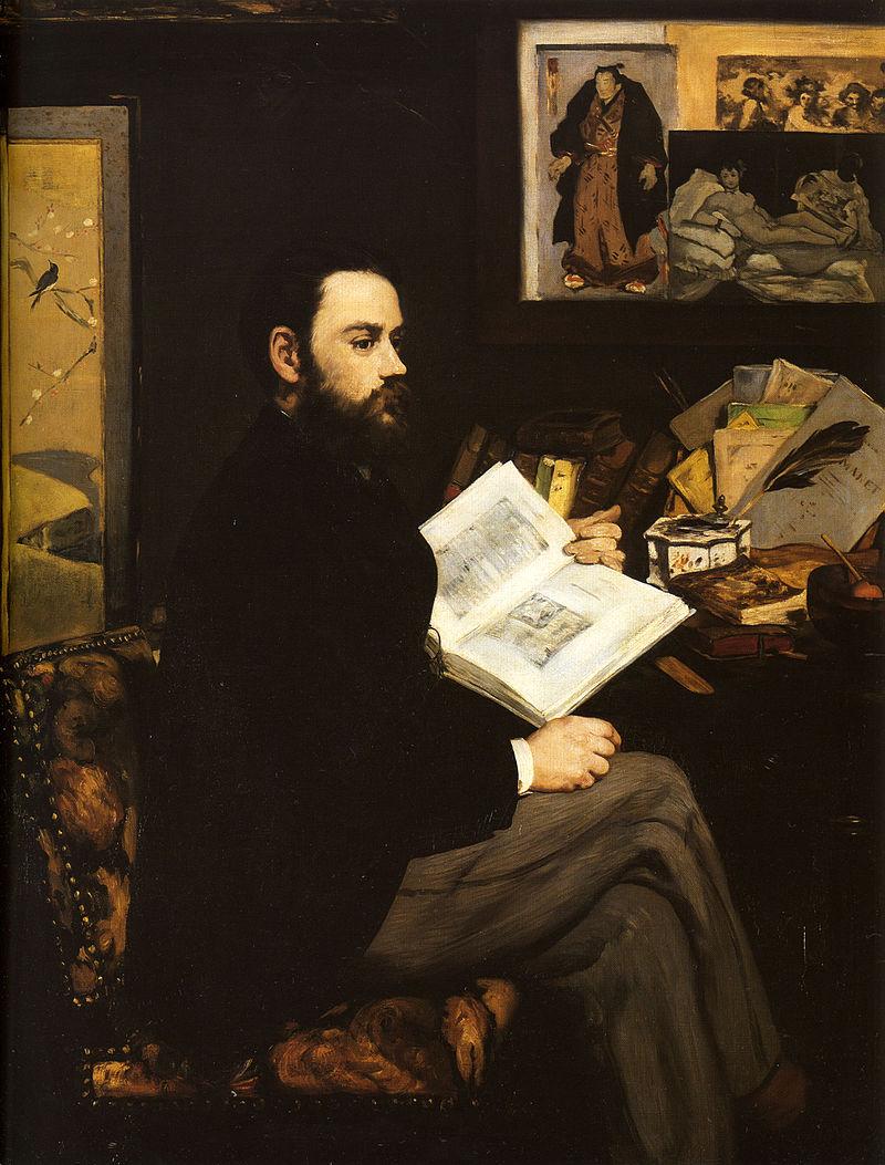 Émile Zola peint par Édouard Manet. (définition réelle 819×1045*)