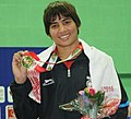 Manisha (India) won the gold medal in 60kg female wrestling, at 12th South Asian Games-2016, in Dispur, Guwahati on February 06, 2016.jpg