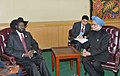 Manmohan Singh with the President of South Sudan, Gen. Salva Kiir Mayardit, in a bilateral meeting, on the sidelines of the 66th Session of the United Nations General Assembly, in New York on September 24, 2011 (1).jpg