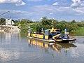 Manually operated cable ferry between Borusowa and Nowy Korczyn, Poland, 2019, 01.jpg