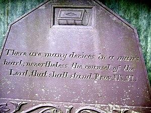 English: Many devices... The gravestone of Eva...