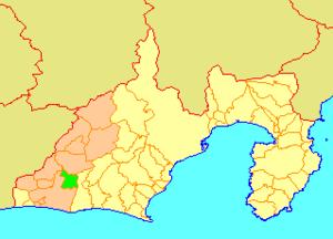 Hamakita, Shizuoka - Image: Map.Hamakita.Shizuok a
