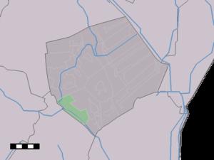 Odoornerveen - Image: Map NL Borger Odoorn Odoornerveen