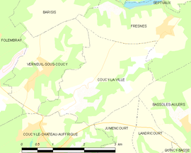 Mapa obce Coucy-la-Ville