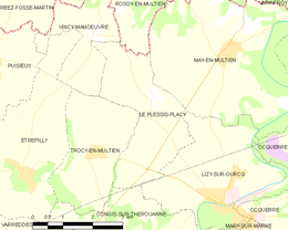 Le Plessis-Placy – Mappa