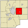 Map highlighting Clay Township, Bartholomew County, Indiana.png