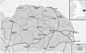 Map locating the Mid-Norfolk Railway.png