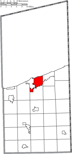 Location of Ashtabula Township in Ashtabula County